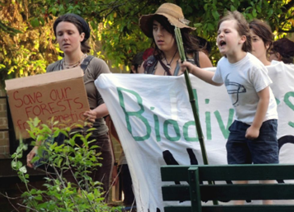 Hundreds Protest Against Genetically Engineered Trees