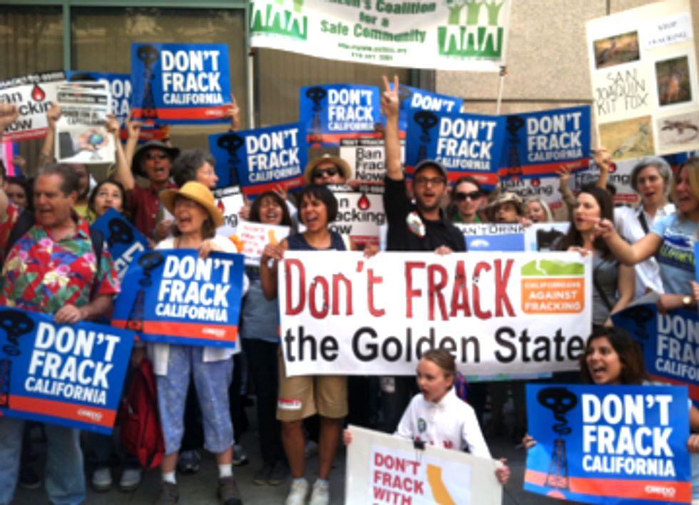 Filmmaker Josh Fox Joins L.A. Protest Demanding California Fracking Ban