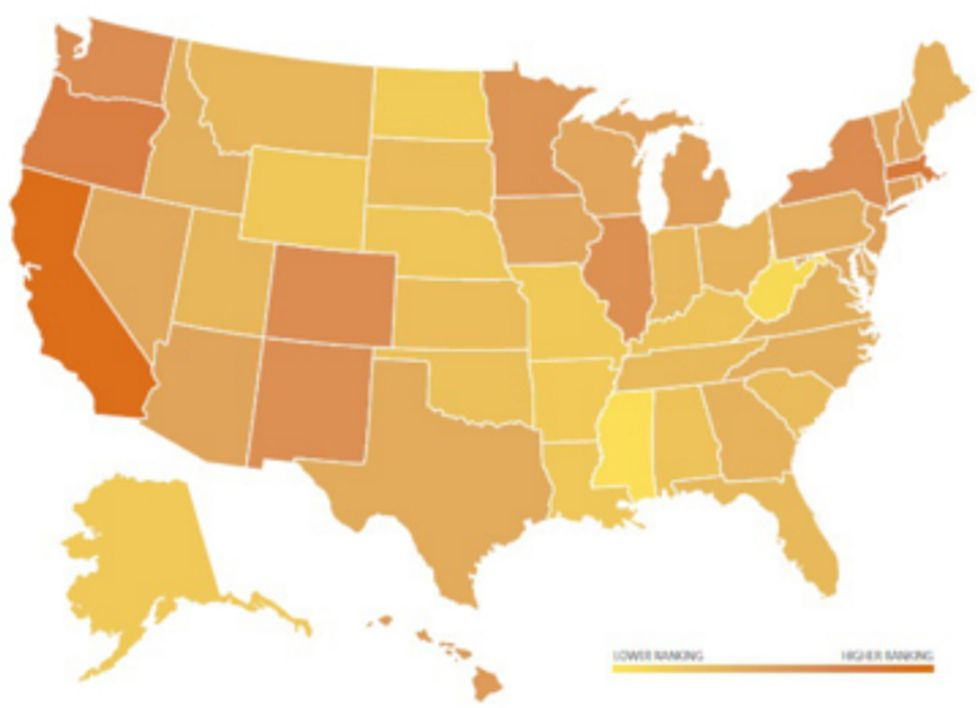 Clean Energy Development: Where Does Your State Rank?