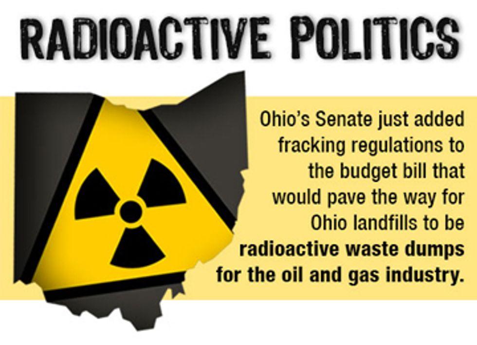 Ohio Remains Nation's Radioactive Fracking Waste Sacrifice Zone