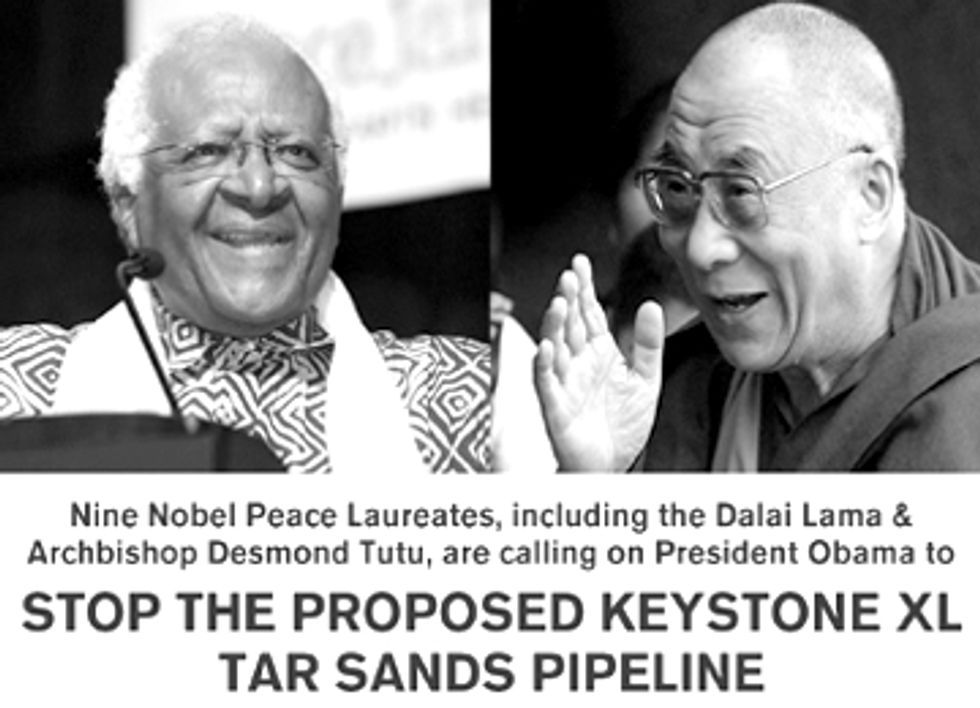 Nobel Laureates to President Obama: Reject Keystone XL and Be On the Right Side of History