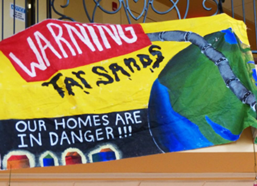 Activists Attend PHMSA Event Demanding an End to Tar Sands Pipelines