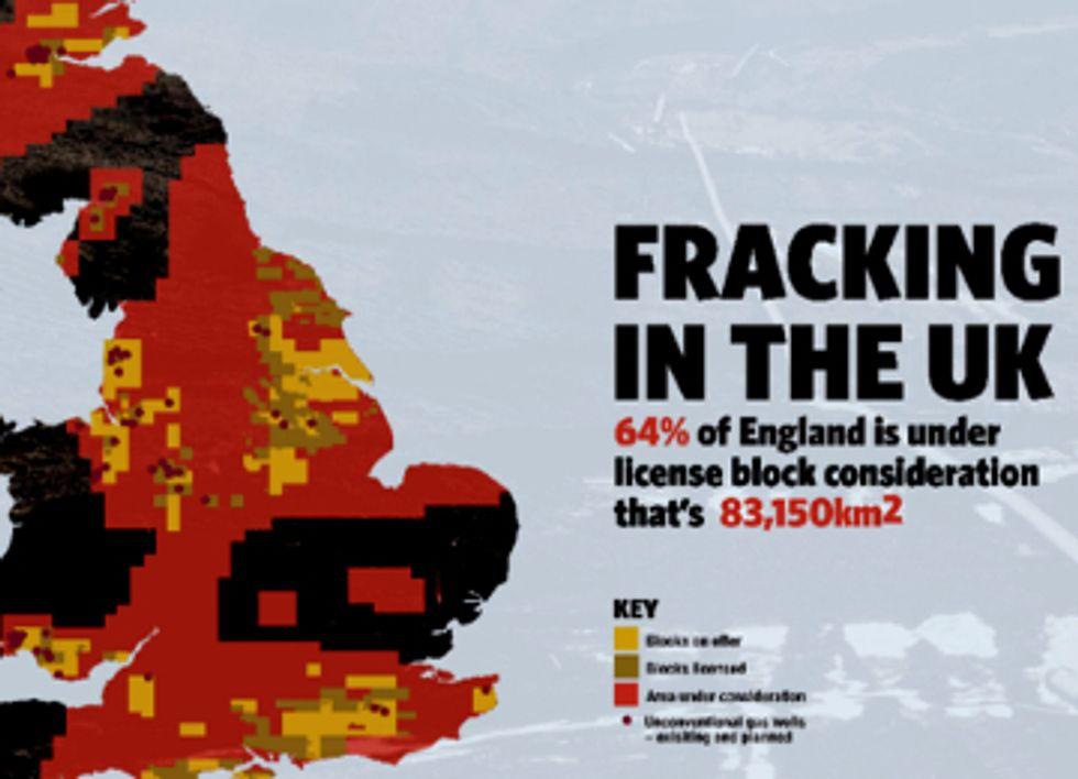 UK Earmarked for Fracking, Massive Public Backlash On Horizon