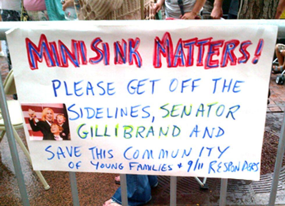 Minisink Residents Protest Outside Senator Gillibrand's Office
