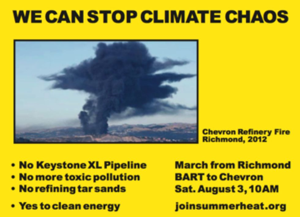 Californians to Protest Climate Chaos at Chevron Refinery Aug. 3