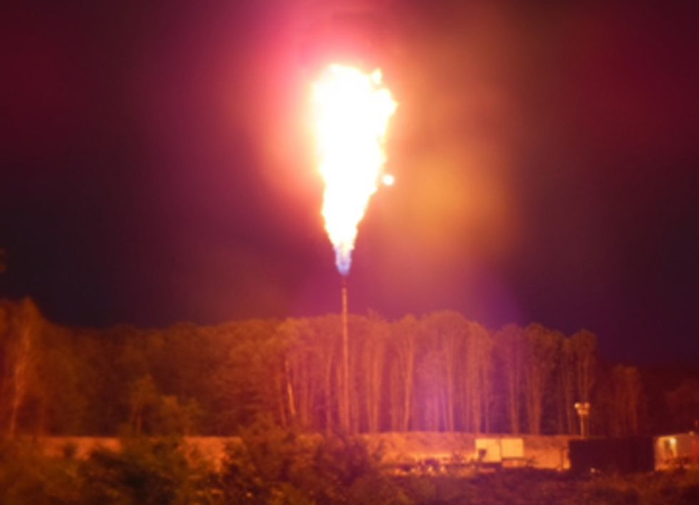 Fracking Company Ignores High Fire Risk as Gas Flares in Michigan State Forest