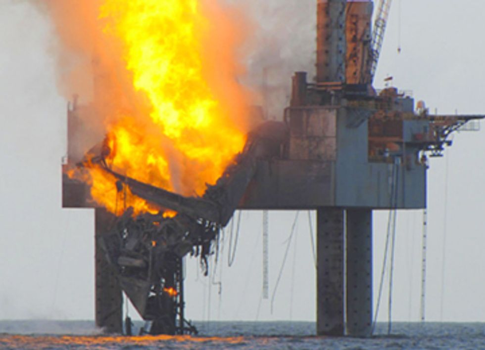 Natural Gas Rig Fire in the Gulf, Another Wakeup Call