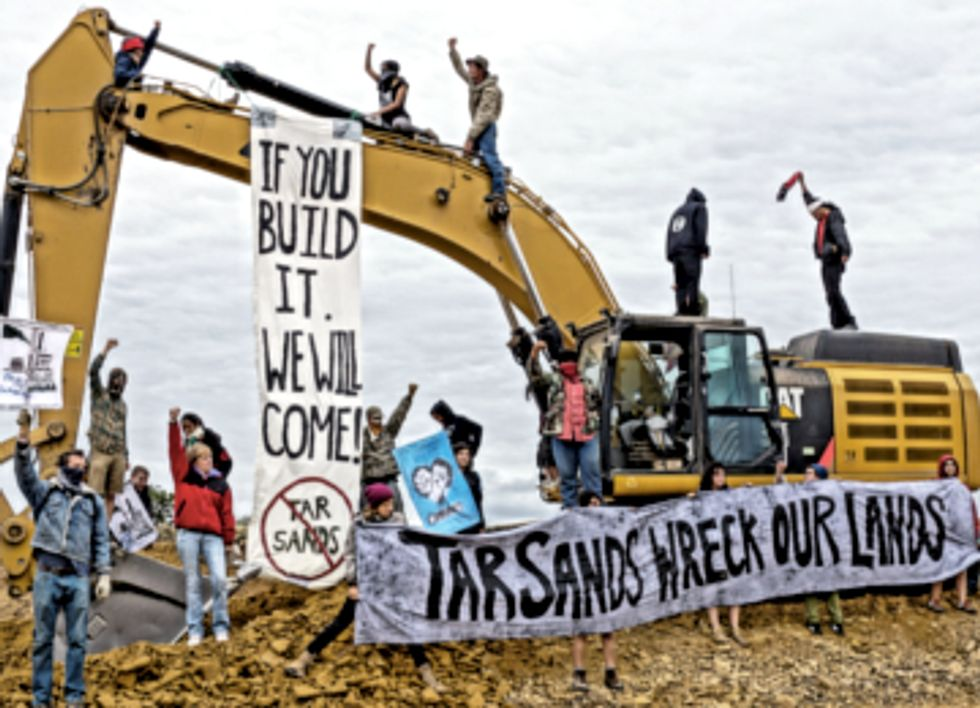 Demonstrators Halt Construction at Proposed Utah Tar Sands Site