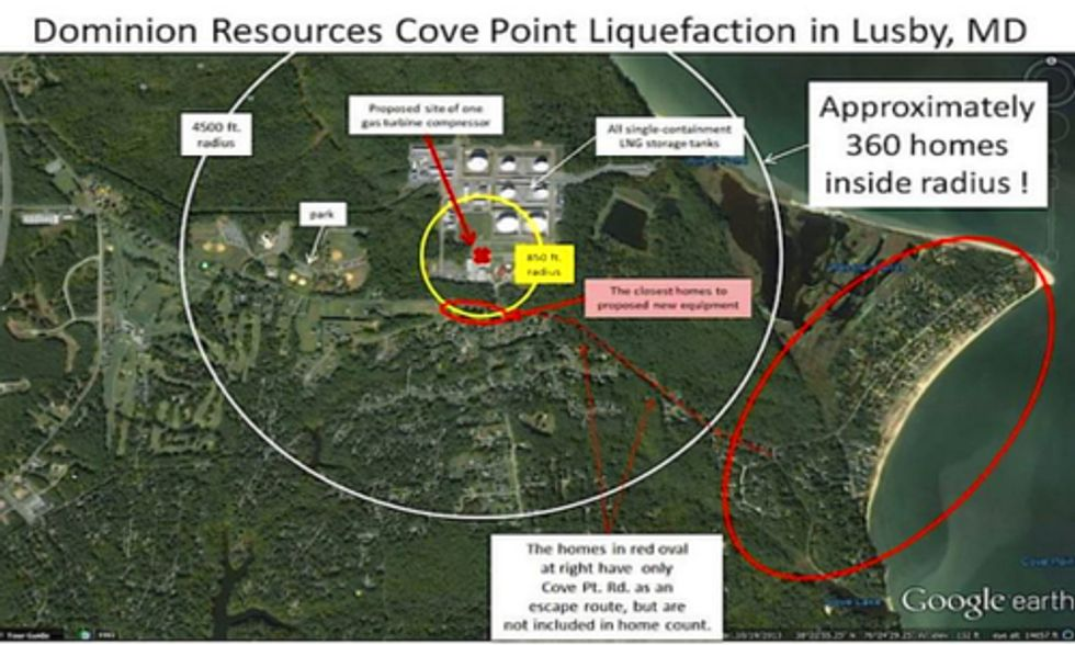 In Light of Washington LNG Explosion, Community Demands Answers to Cove Point Export Terminal Concerns