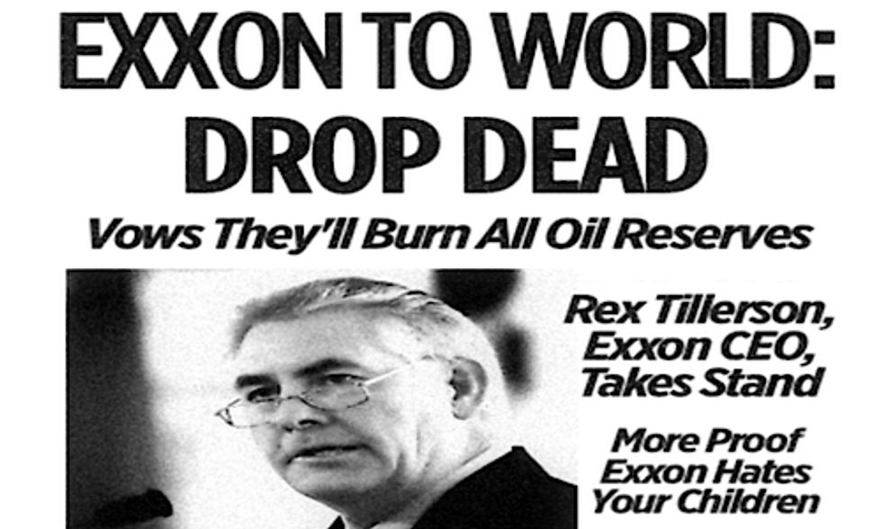 ExxonMobil Ignores IPCC Warning, Vows to Burn All Oil Reserves