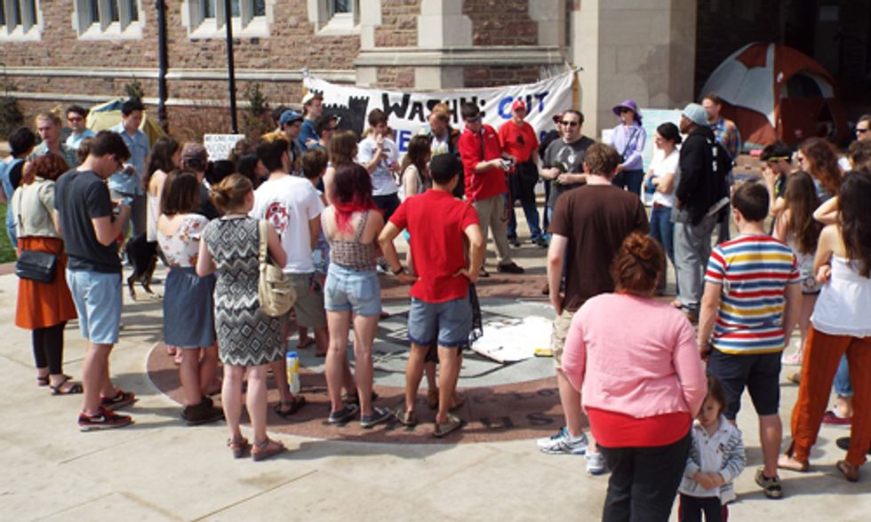 Washington University Sit-In: Students Against Peabody Coal Ask Which Side Are You On?