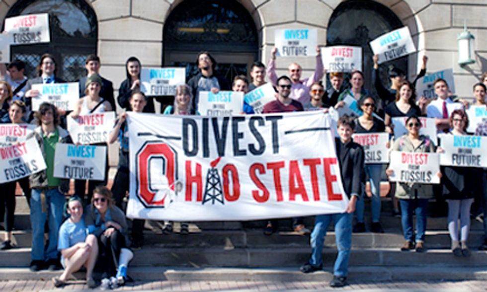 Students Rally for Fossil Fuel Divestment at Ohio State University