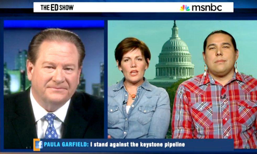 Anti-Keystone XL Groups Discuss Delayed Decision on MSNBC