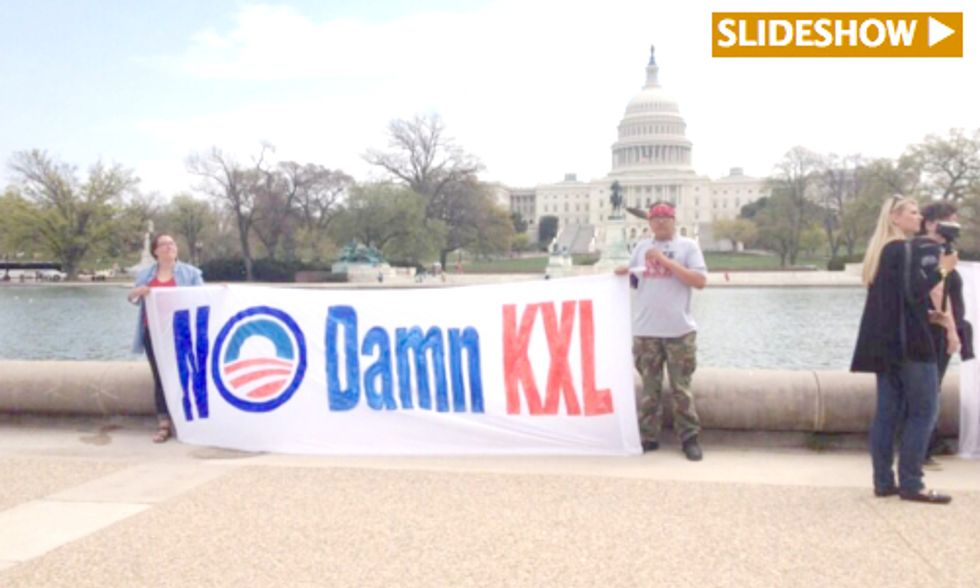 Cowboys and Indians Launch 5-Day Keystone XL Protest on National Mall