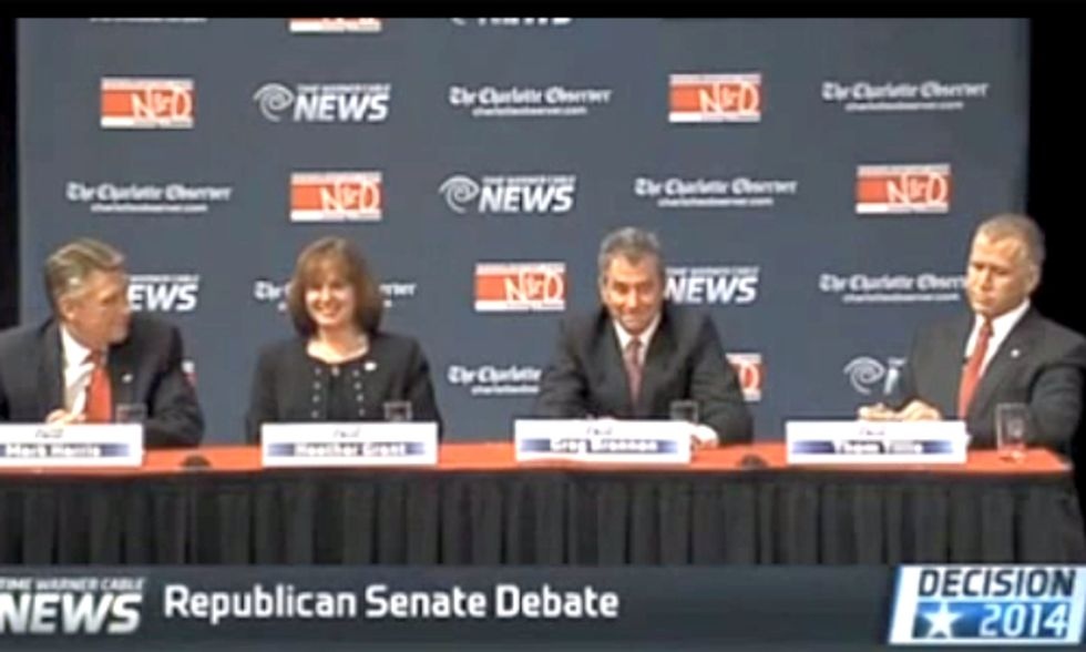 Watch All Four North Carolina GOP Senate Candidates Laugh When Asked About Climate Change