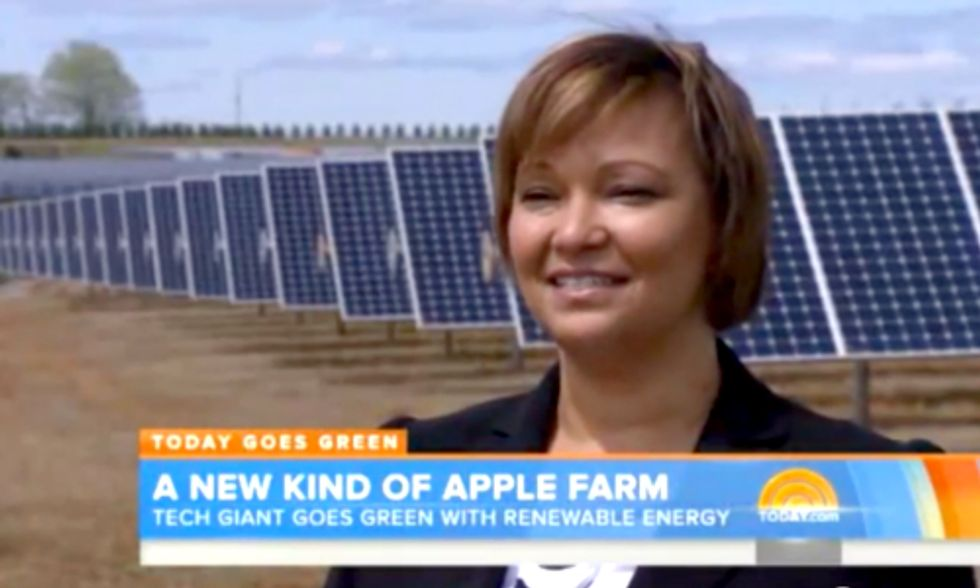 Apple's Lisa Jackson Takes 'Today Show' on Tour of Company's 100-Percent Renewable Operations