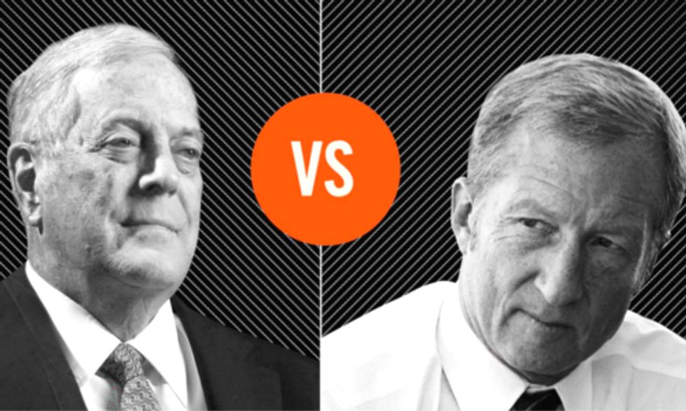 Activist Tom Steyer Challenges Koch Brothers to Climate Debate