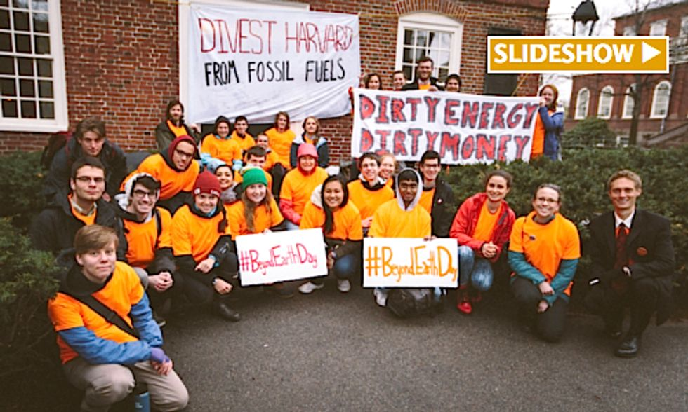 Students Stage Day of Action As Harvard University Refuses to Divest From Fossil Fuels