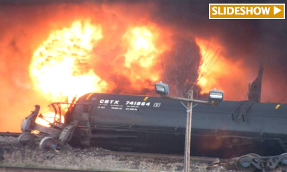 Thousands of Crude Oil Gallons Spill Into James River as Train Derails in Virginia