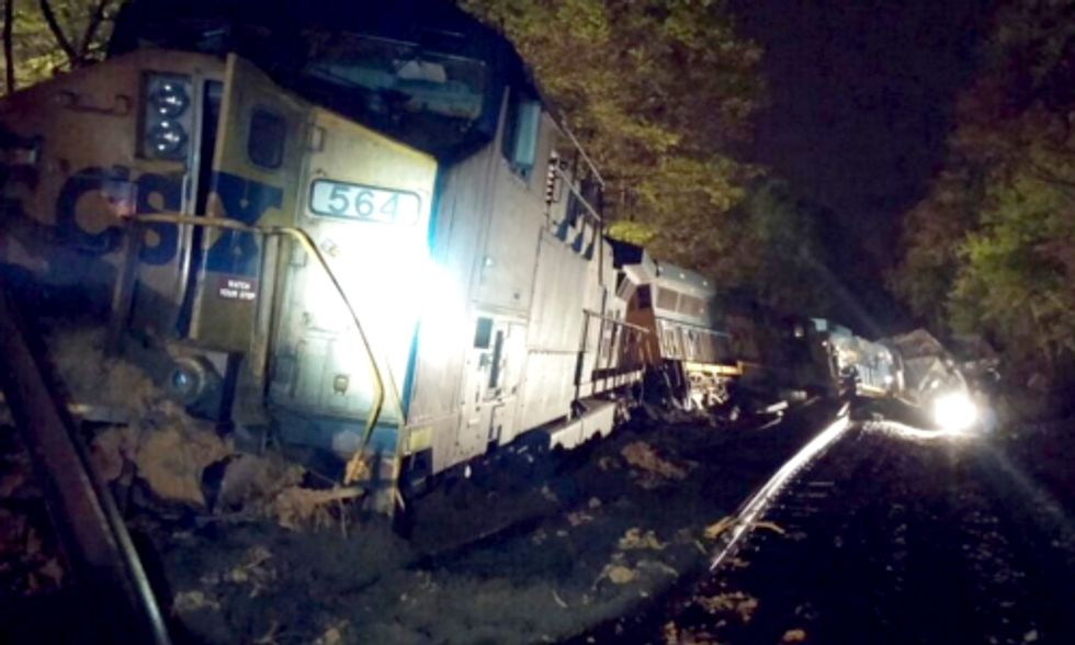 CSX Train Carrying 8,000 Tons of Coal Derails in Company's Second Wreck in 24 Hours