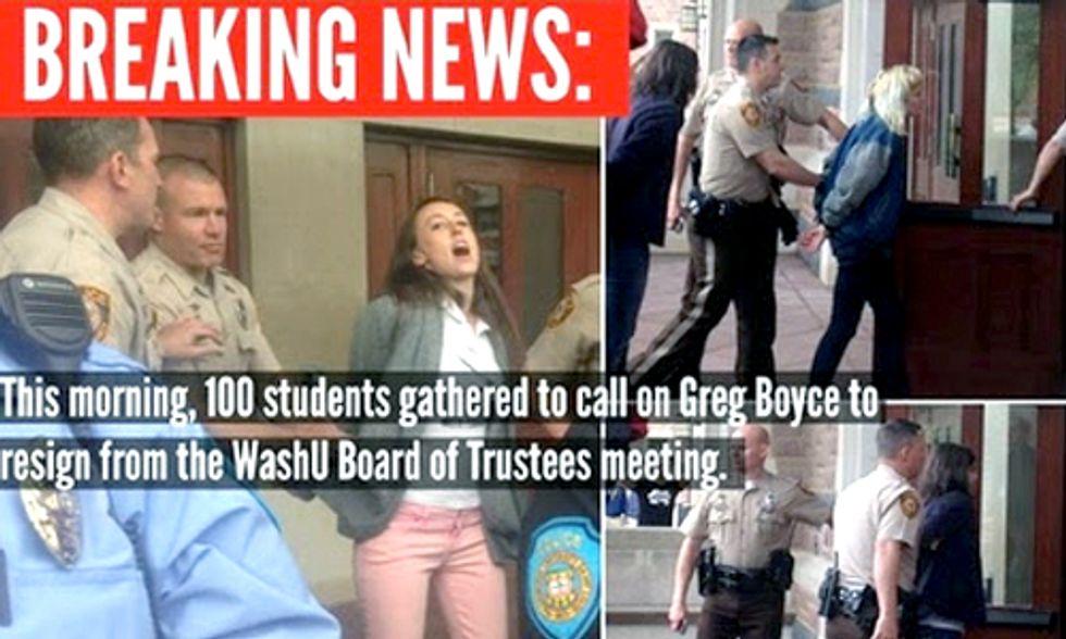 Breaking: 7 Washington University Students Arrested Protesting Peabody Coal