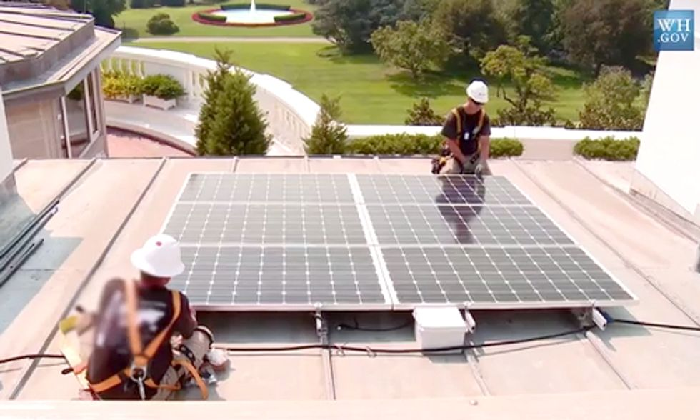 Watch the White House Finally Go Solar