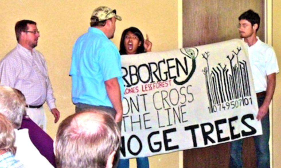 Protesters to Biotech Industry: If GE Trees Are Planted, Expect Resistance