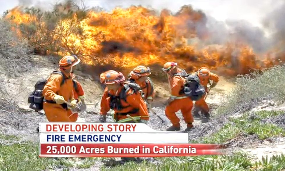 Gov. Jerry Brown Discusses Role of Climate Change in California's 10 Wildfires in the Past Week