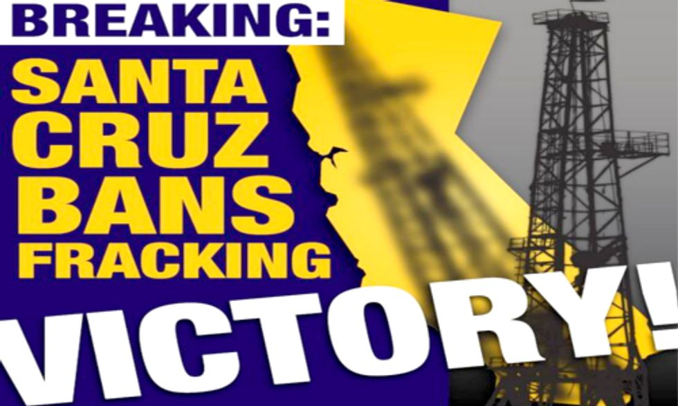 Santa Cruz Triumphs as First County in California to Ban Fracking