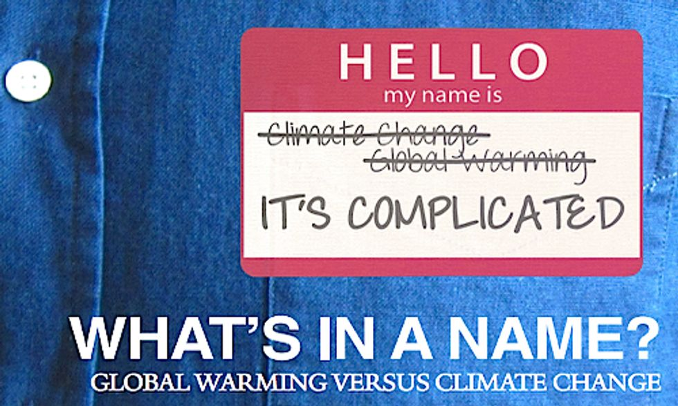 What's in a Name? Global Warming vs. Climate Change in the Eyes of Americans