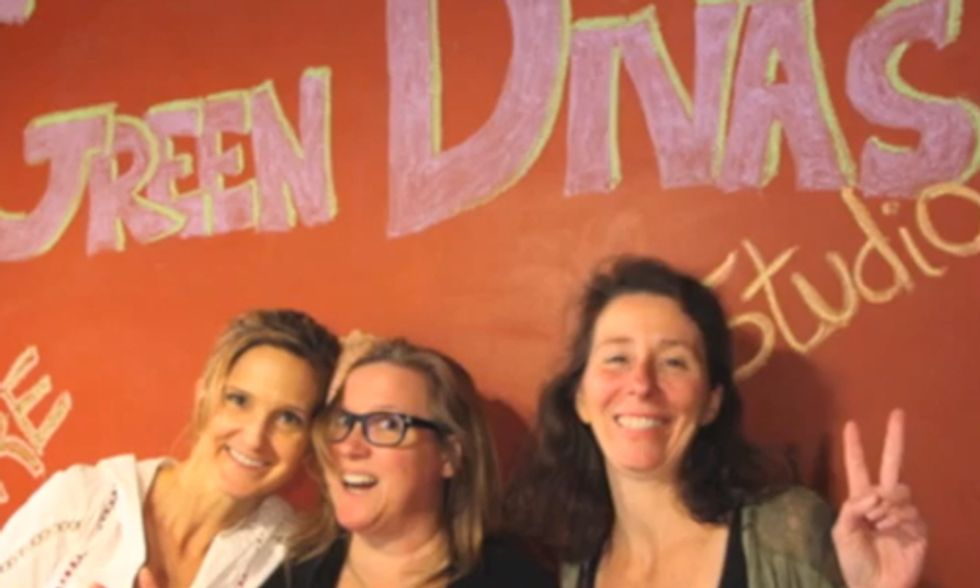 Three Green Divas Walk Into a Recording Studio…