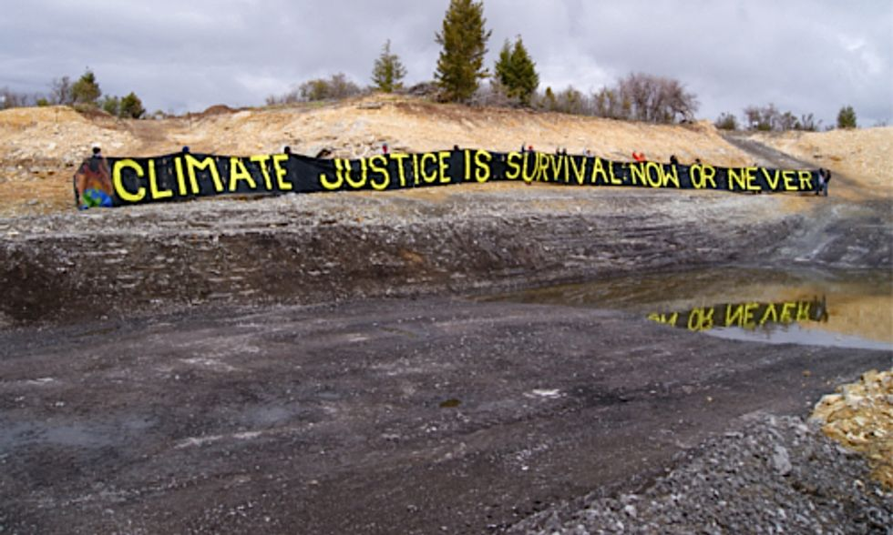 Permanent Protest Setup at Proposed Tar Sands Strip Mine in Utah