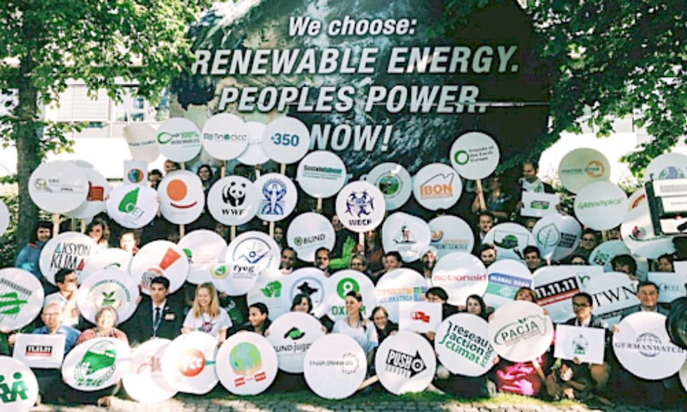 Protesters at UN Climate Talks in Bonn: We Choose Renewable Energy. Stand With Us or Step Aside.