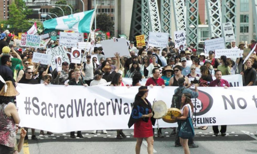 1,000+ March Against the Northern Gateway Tar Sands Pipeline in Vancouver