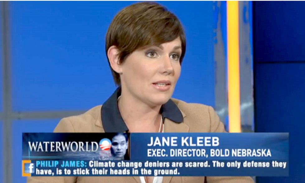 Bold Nebraska Director Jane Kleeb Explains the Science Behind Climate Denial