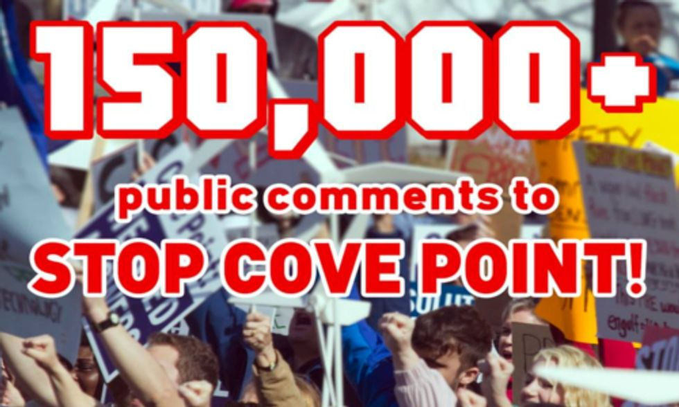 Public Outcry Intensifies to Stop Cove Point LNG Export Facility