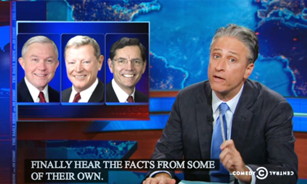 Must-See Jon Stewart Roasting Republicans Who Willfully Deny Climate Change