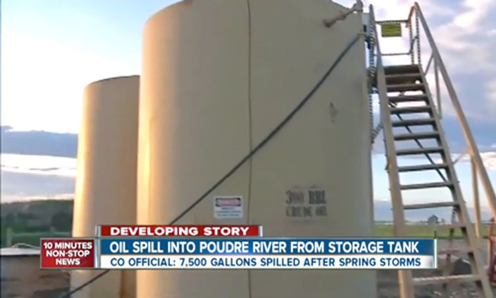 Noble Energy Spills 7,500 Gallons of Crude Oil Into Colorado's Poudre River