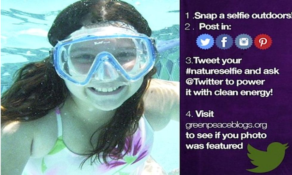 Tell Twitter to Go Green With a #NatureSelfie