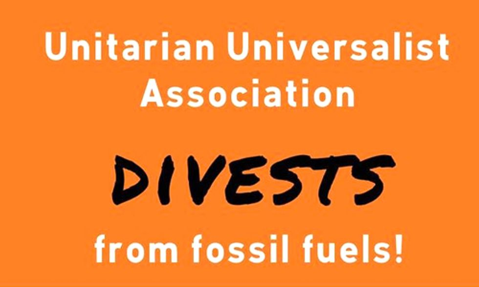 Unitarians Go Fossil Fuel Free With Divestment Resolution