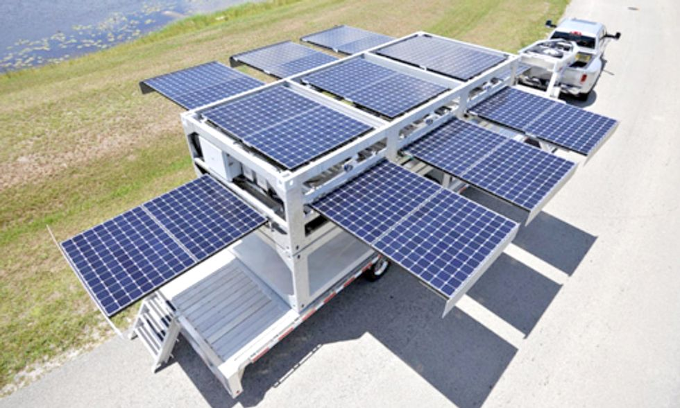 Mobile Solar Station Provides Energy to Disasters, Military and Off-Grid Locations