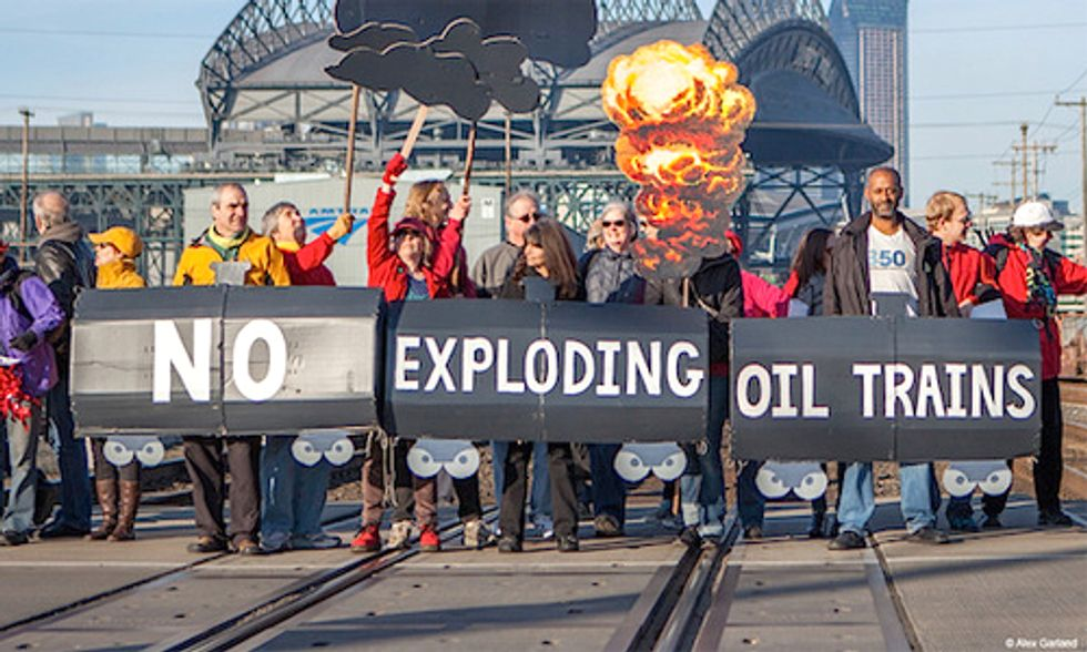 Oil Train Disaster Anniversary Kicks Off Week of Action and 'Blast Zone' Mapping Tool