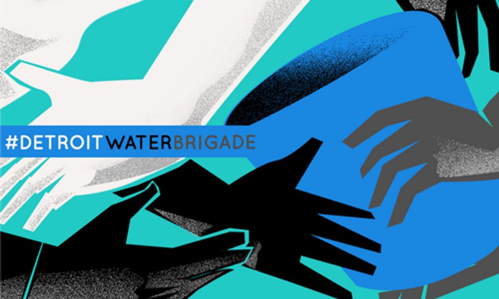 Detroit Water Brigade Fights for Basic Human Right of Clean Drinking Water