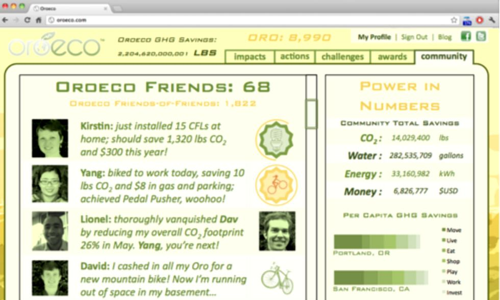 New App Tracks Your Carbon Footprint, Compares it to Your Facebook Friends' Output