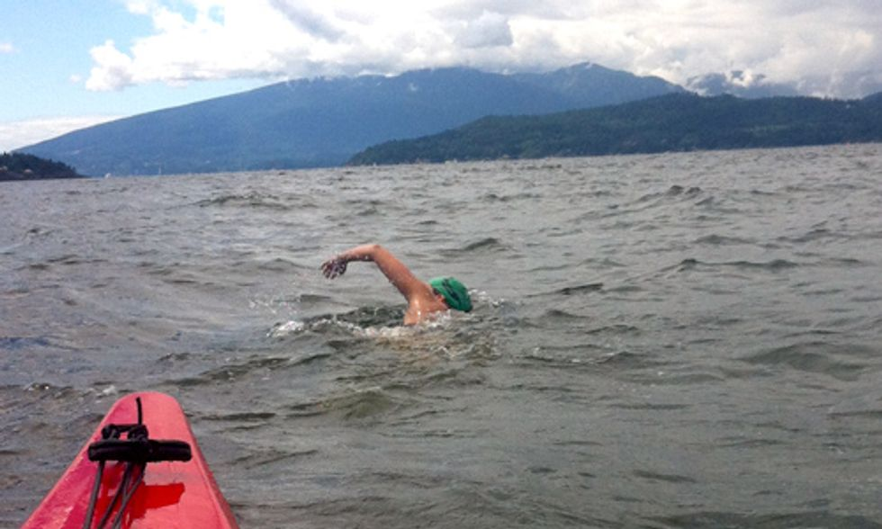 Historic Attempt to Swim Georgia Strait Supports Clean Water