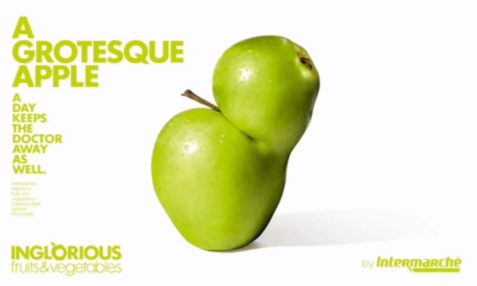 French Supermarket Highlights Ugly Fruits and Veggies Instead of Wasting Them