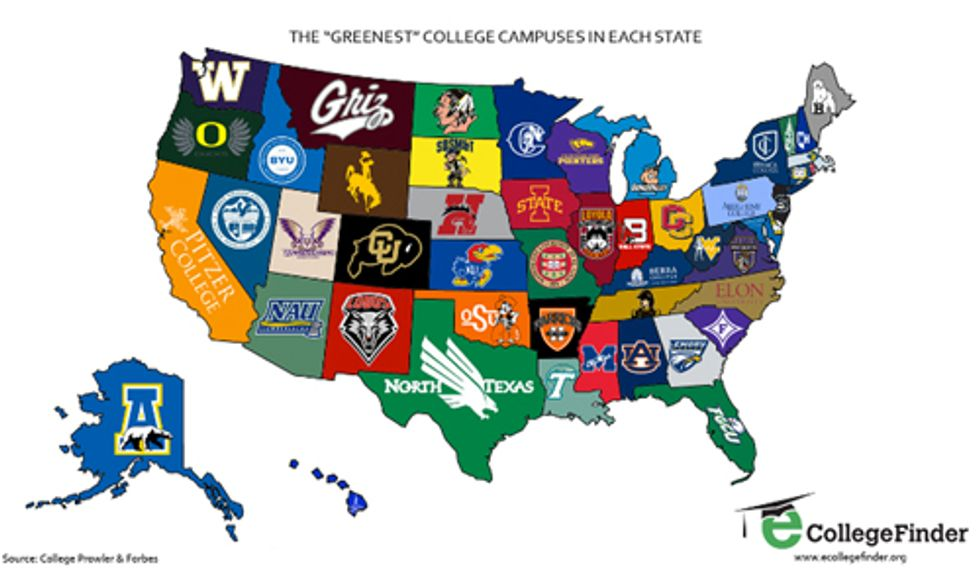 Which Is the Greenest College Campus in Your State?