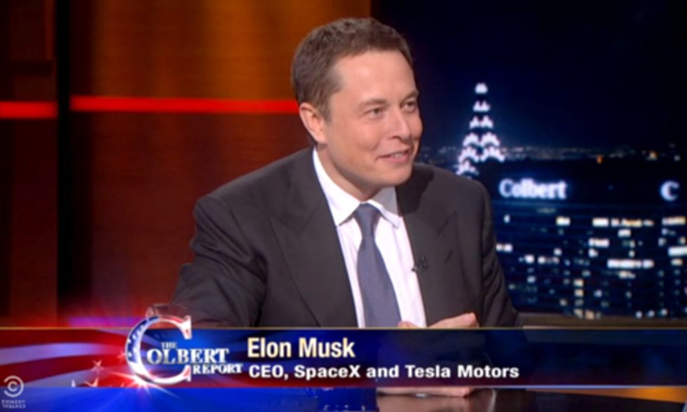 Elon Musk Tells Stephen Colbert Why He Released Tesla Patents to the EV Market