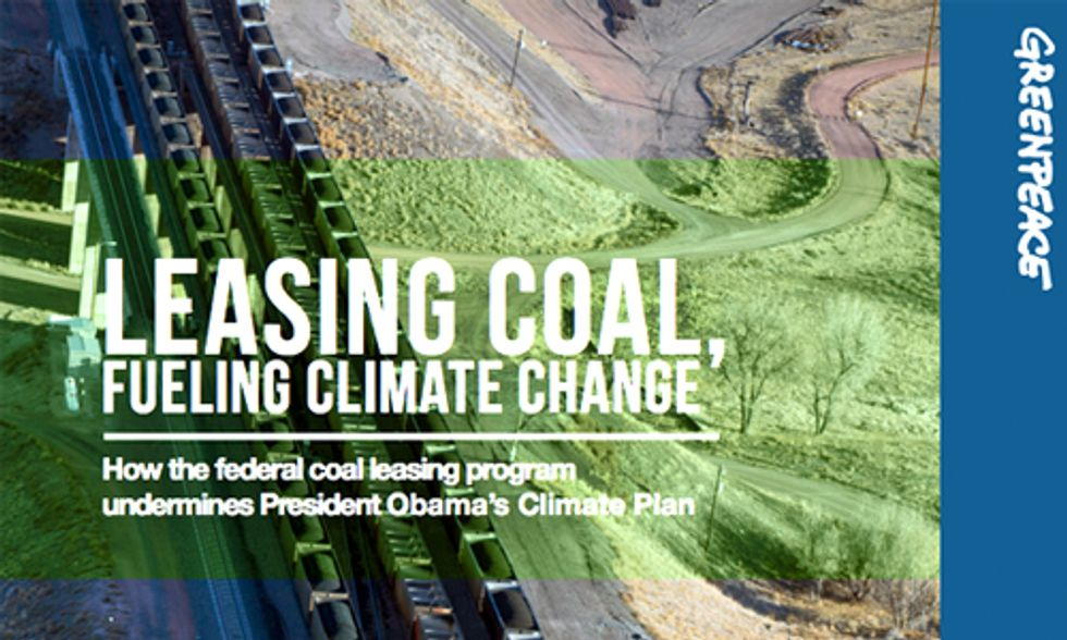 U.S. Coal Exports Fuel Global Climate Change and Undermine Obama's Climate Plan