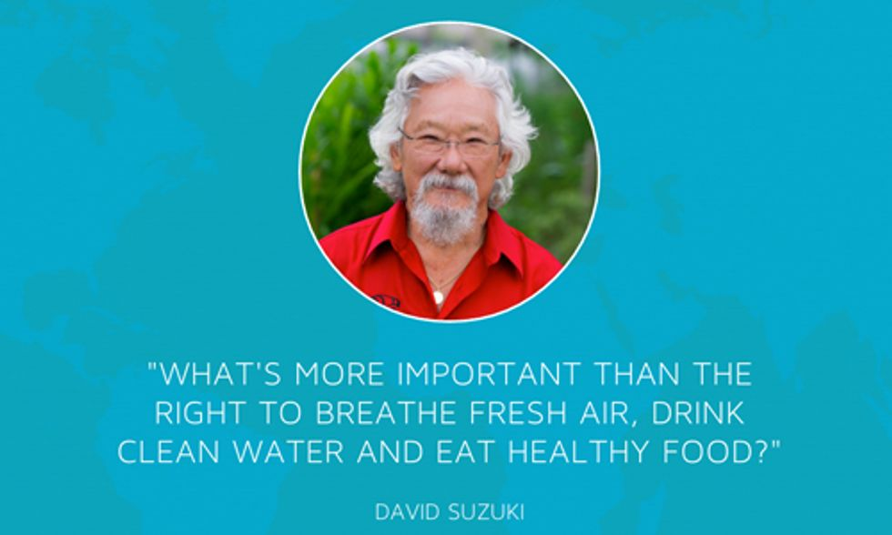 The Blue Dot Tour: The Right to Breathe Fresh Air, Drink Clean Water and Eat Healthy Food